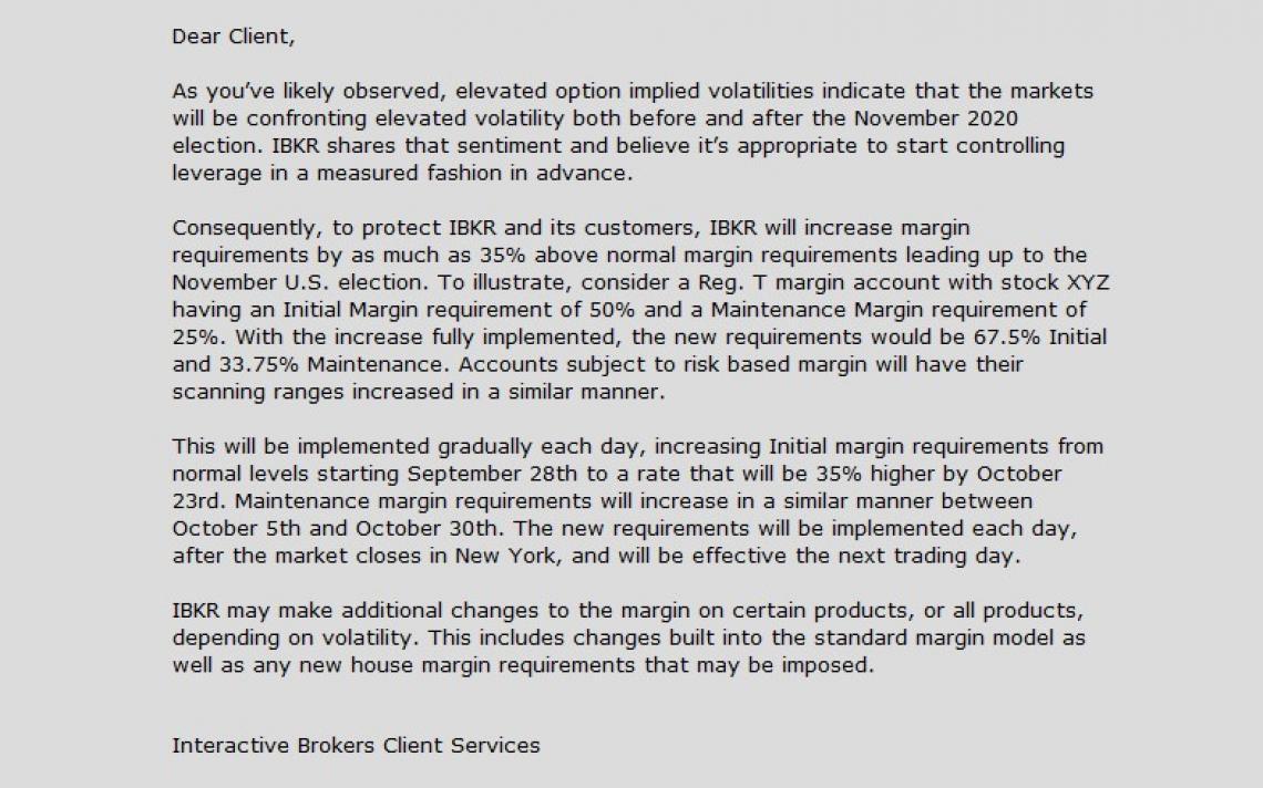 IB Margin increase letter