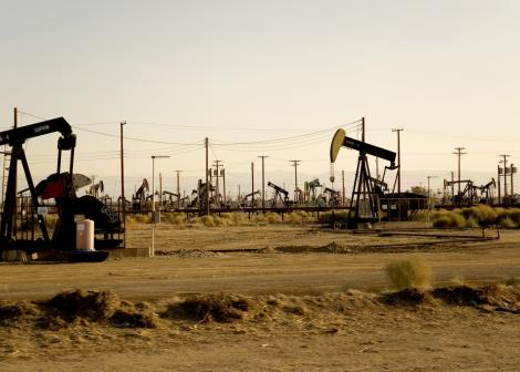 Oil rigs in West Texas
